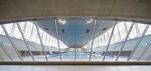 seele made an external and internal façade for the Aquatics Centre, as well as the Lobby and sliding doors.