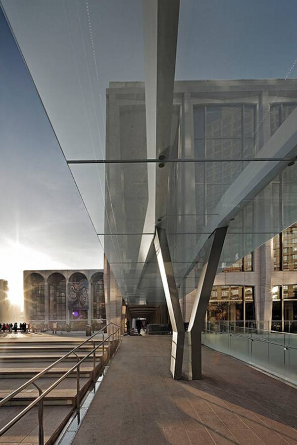 Façade specialist seele installed 240sqm roof area for the lincoln center canopies.