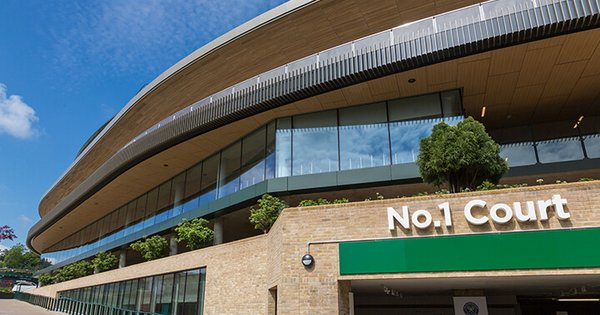 seele realized the retractable roof and different façade types for Wimbledon No.1 Court