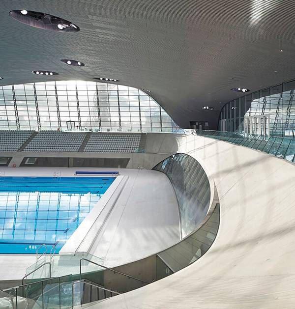 Façade specialist seele realized numerous façade solutions to rewuire the U-value for indoor swimming pools.