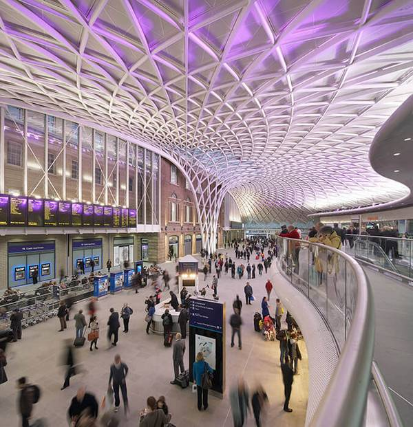 The King's Cross is one of London's most important stations for what façade specialist seele constructed the freestanding shell structure.