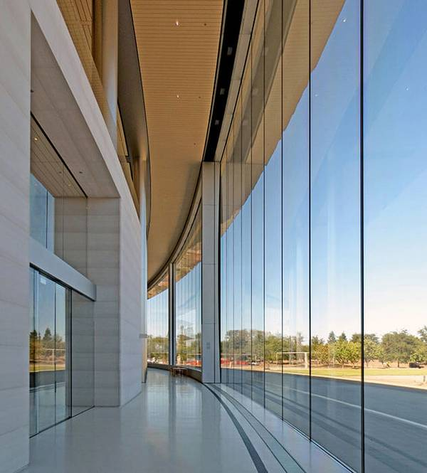 The whole complex of the Apple Park in Cupertino has a radius of 232m.