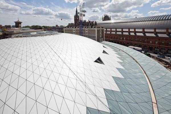 The steel structure in King's Cross Station has become a London landmark.