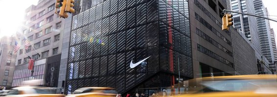 Lingüística Él mismo salón  Nike Store New York: steel-and-glass façade - seele