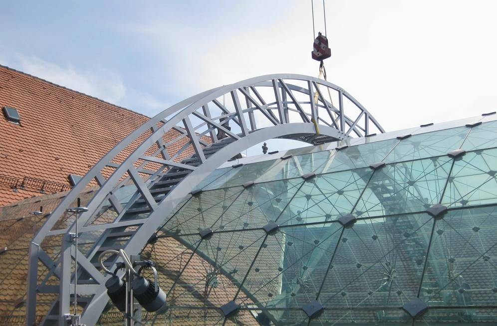 Maintenance system for the glass roof of the Maximilian Museum in Augsburg