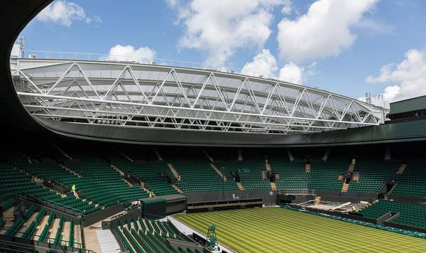Retractable membrane roof made seele for No.1 Court at Wimbledon