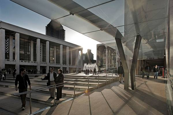 seele realized the two canopies in the entrance area of the Avery Fisher Hall and the New York State Theater.