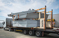 Packaged steel componets are delivered in time from seele pilsen, Czech Republic.