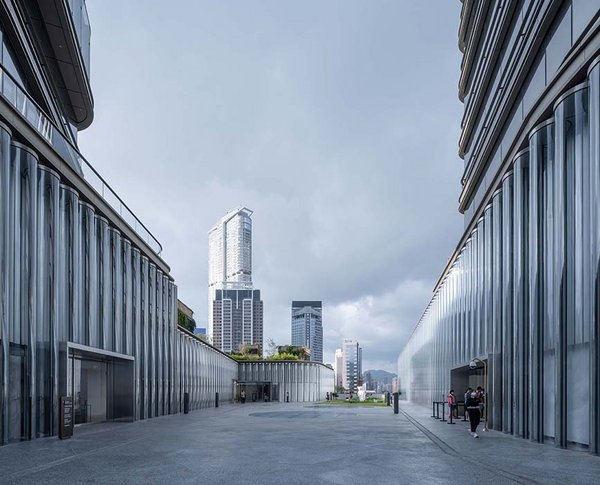 CCF glass tube façade for K11 Musea in Hong Kong made by seele