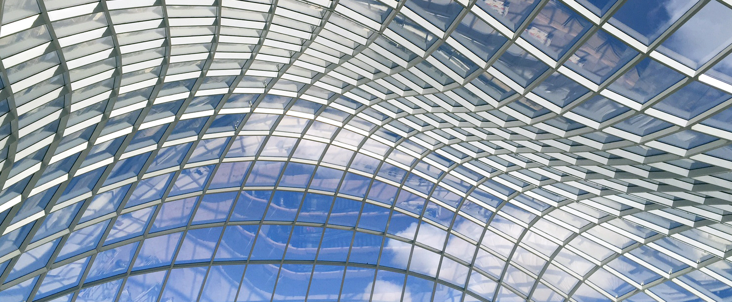 Steel glass roof from seele for Australians biggest shopping centre in melbourne