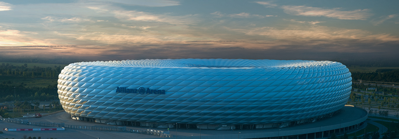 The Allianz Arena in Munich is one of the largest membrane constructions in the world, made by seele cover