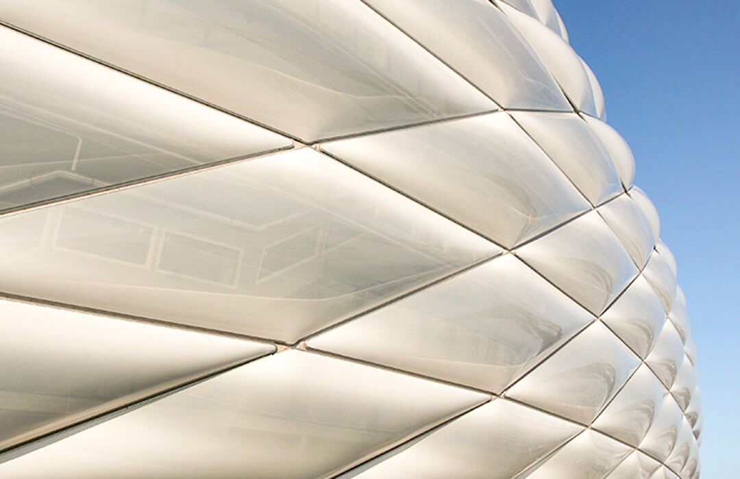 The building shell of the Allianz Arena in Munich has a total surface area of 66,500sqm.
