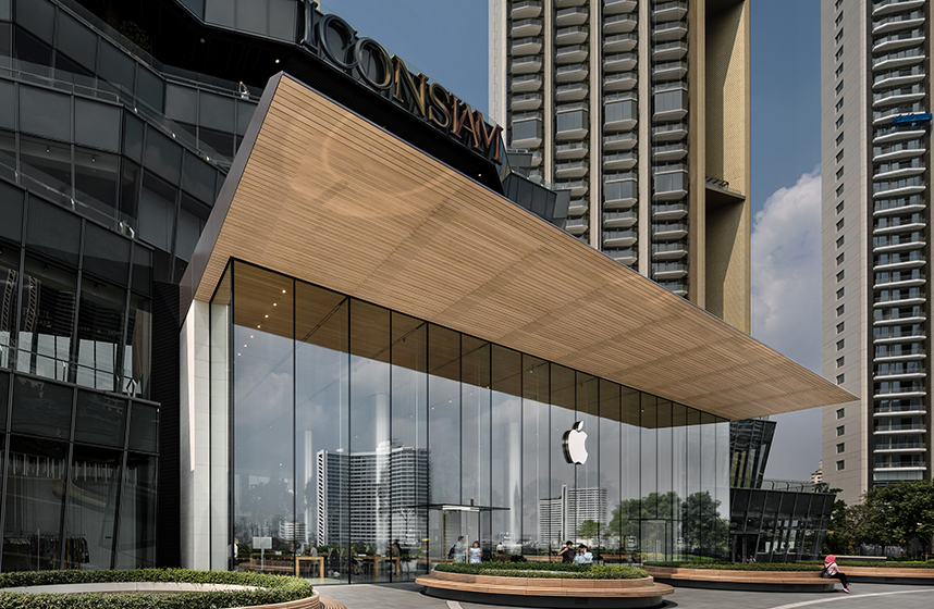 Apple retail store ICONSIAM in Bangkok, Ganzglas-Fassade von se-austria.