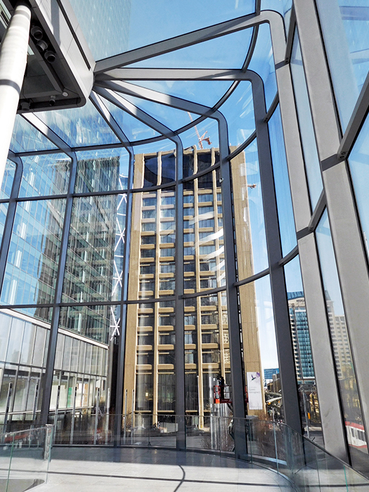 seele's scope comprises 570t structural steelwork for the pavilion of the brookfield place in calgary.