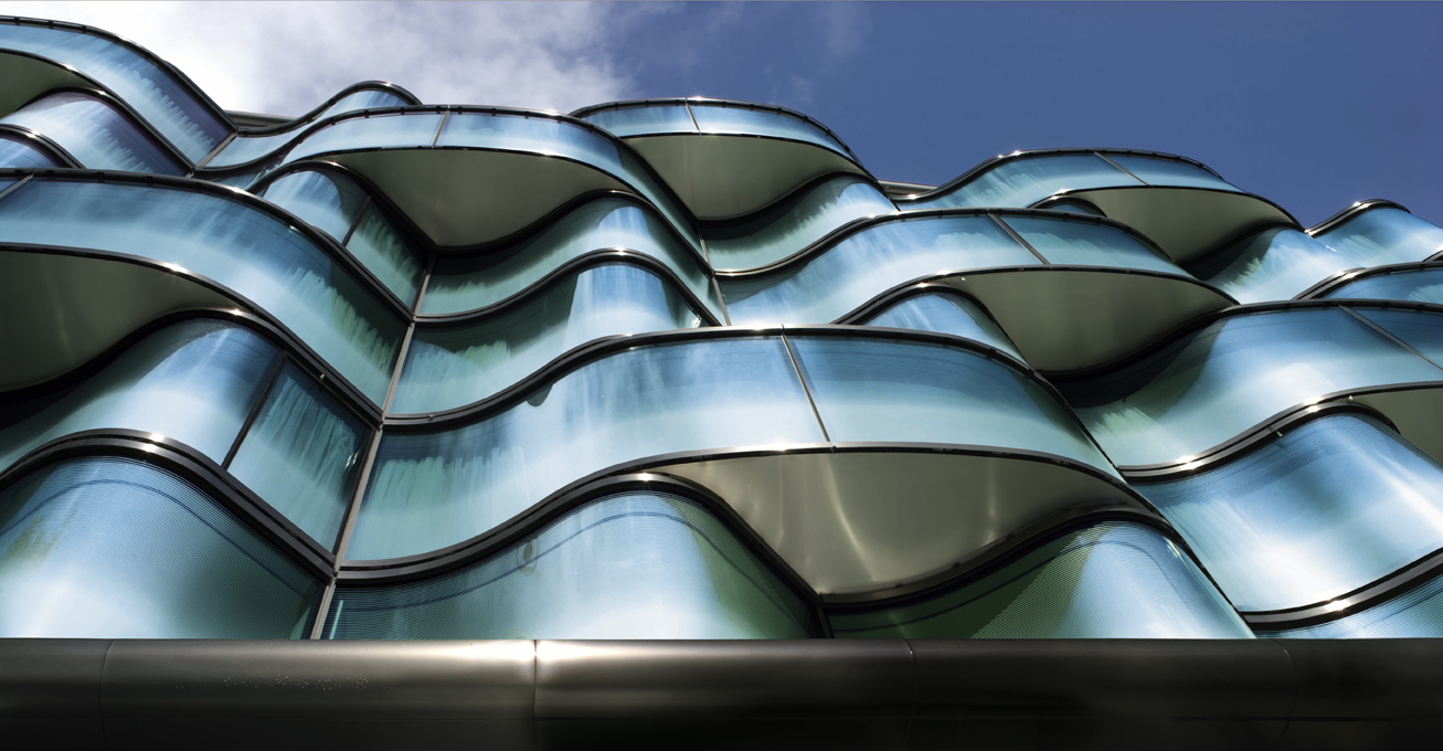 The Hotel Wagram in Paris, France, received an undulating façade from façade specialist seele.