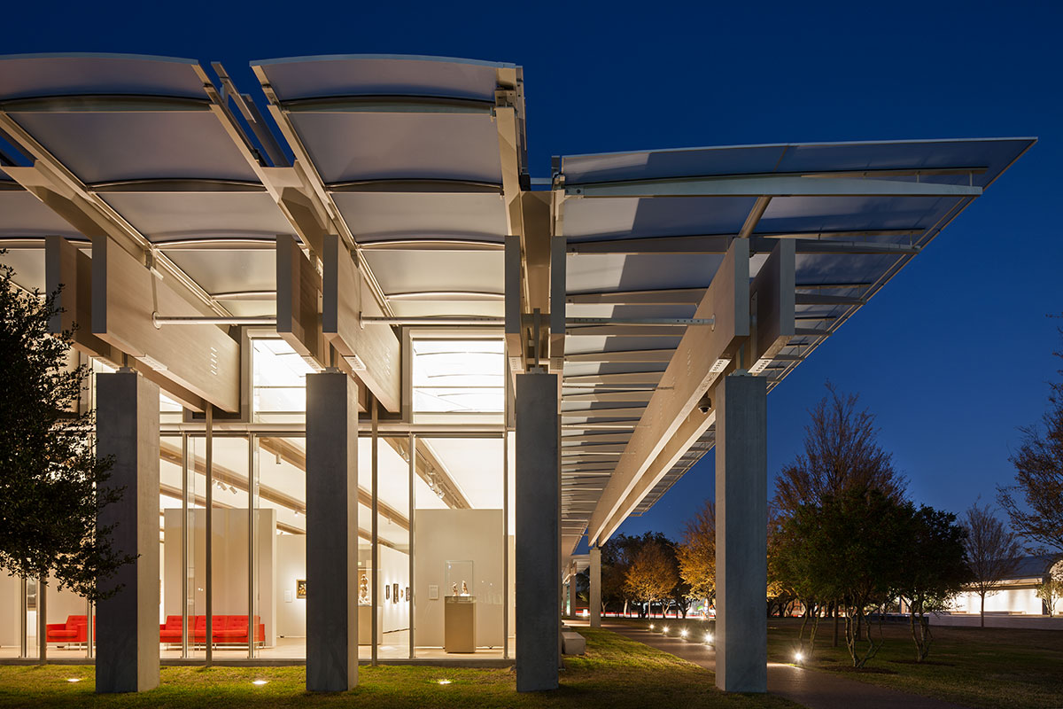 Kimbell Art Museum In Forth Worth Steel And Glass