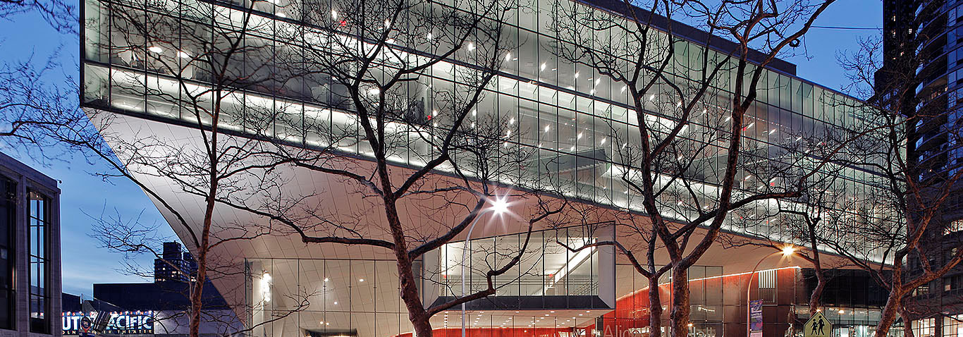 "New York's Art centre ""Lincoln Center for the performing arts"" - Alice Tully Hall - received a façade from façade specialist seele."