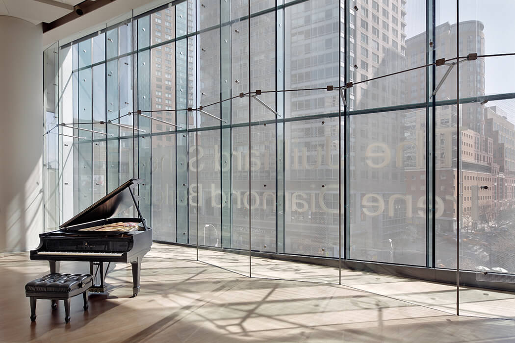 The arts centre is the expansion for the renowned Juilliard School in New York.