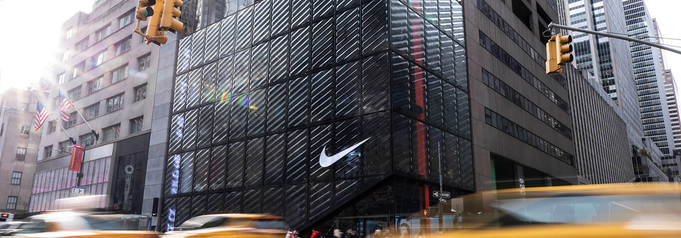 Nike's new high Profile store on New York's 5th Avenue with façade structure by seele.