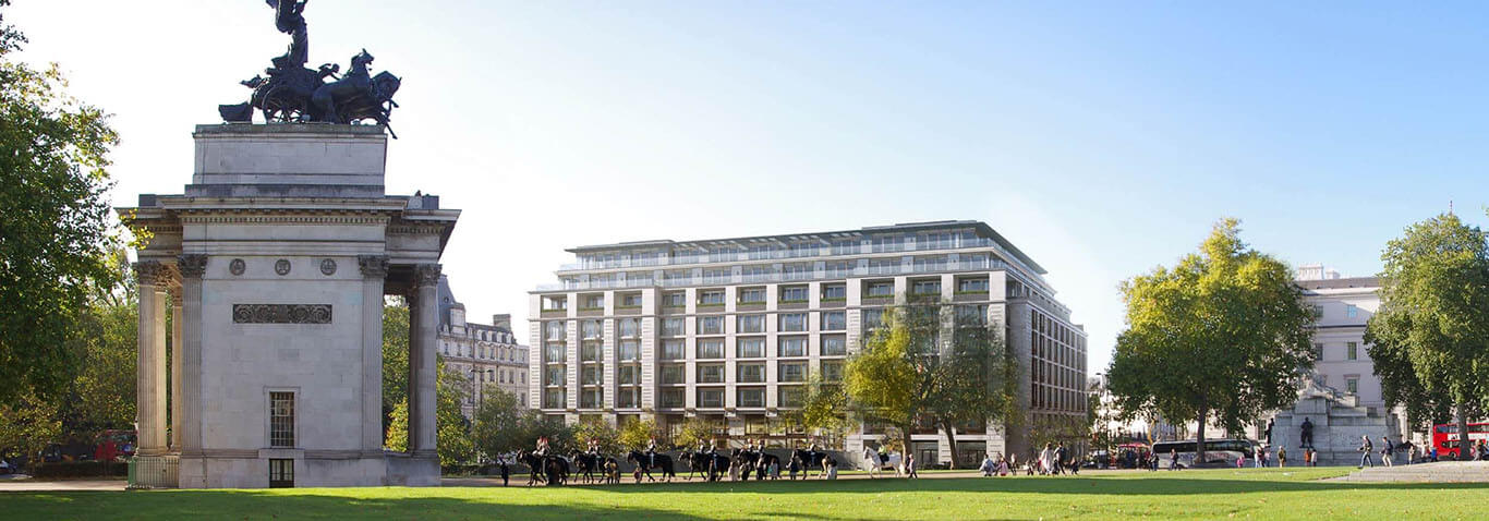 Façade structure by seele for new Peninsula Hotel London