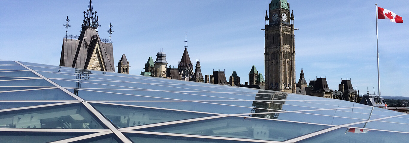A new steel-and-glass structure for the West Block, Ottawa made by seele.