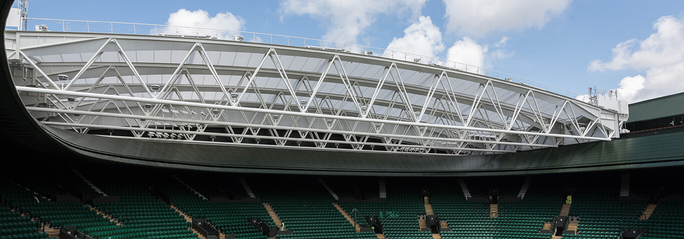 Retractable membrane roof for No.1 Court made by seele