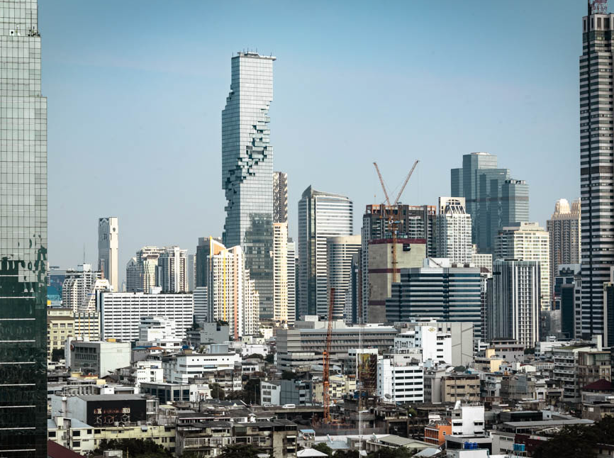 New realized project, MahaNakhon, of seele in Bangkok.