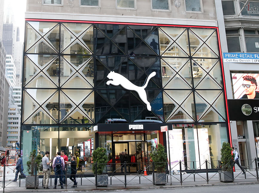 PUMA store auf der 5th avenue made by seele