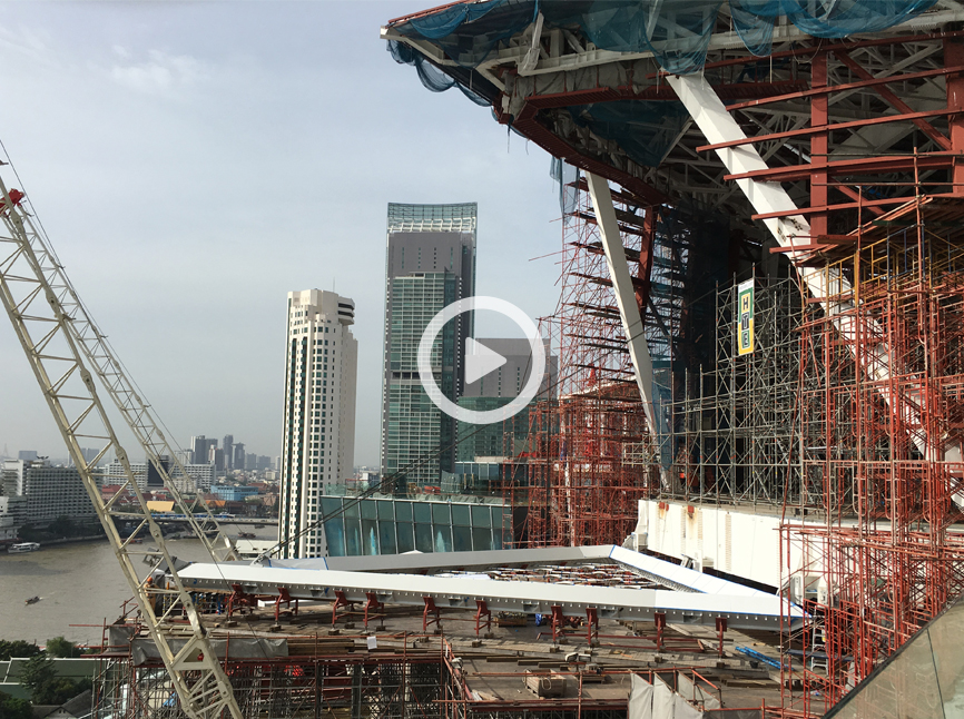 Project film to the assembly of Wisdom Hall ICONSIAM in Bangkok made by seele